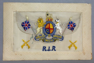 R.I.R. WW1 silk postcard with closed envelope